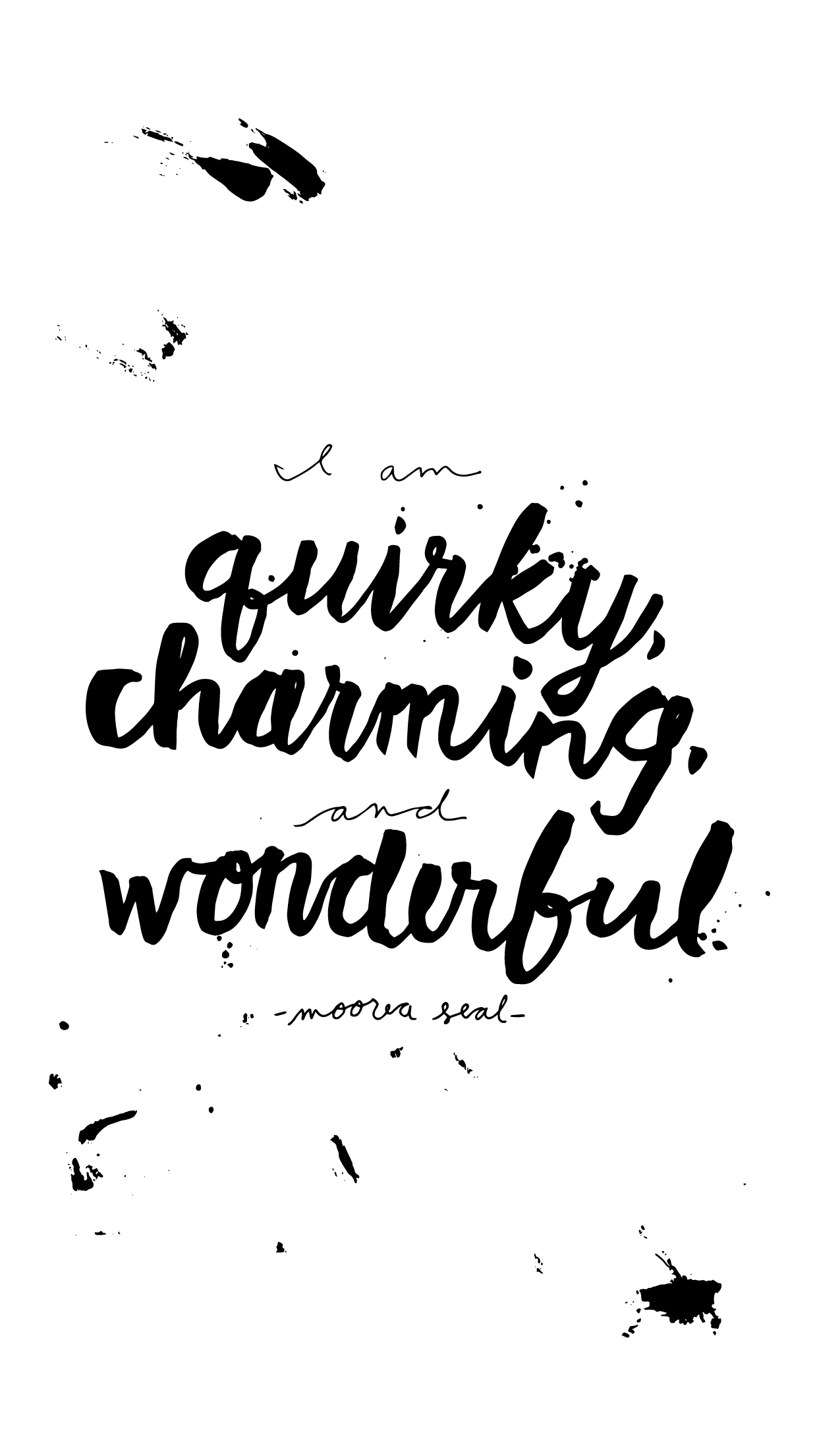 Free Printable Or Iphone Wallpaper Quirky Charming Wonderful